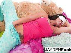 Jayden Jaymes, Jayden Cole, Dylan Ryder and puba bear have fun
