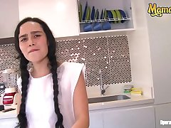 MAMACITAZ - Colombian Cleaning Lady Luna Ruiz Rides Load of shit On high POV Dealings Session