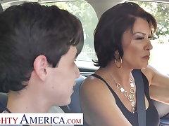 Naughty America Mrs. Fuller (Vanessa Videl) teaches Juan though