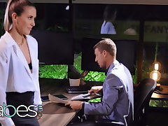 Sexy secretary Paige Owens pounded hard wide of her boss - BABES