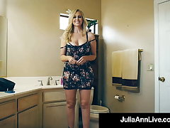 Fan Fuck! Lucky Cock Bangs Lovely Busty Cougar Julia Ann!