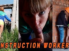 Fit girl adulterated by a Construction worker later on she masturbate
