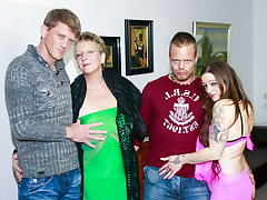 AmateurEuro - Surprising 4some Party With Erna & Adrienne Cuddle
