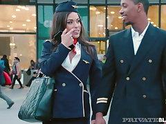 PrivateBlack - Flight Attendant Anastasia Brokelyn Is Fucked