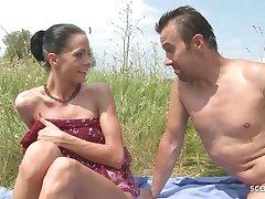 Slim Nudism Teen Seduce yon Beach Ass Sex by Non-native Voyeur