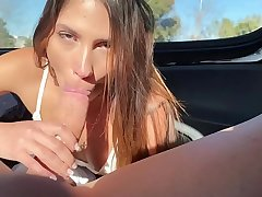 POV sex on the Uber in the matter of Baby Nicols
