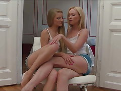 Lina Napoli And Cayenne Klein Having Amusement With Continually Other