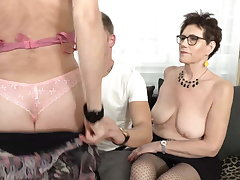 Two mature moms light of one's life lucky son