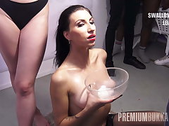 PremiumBukkake - Henna Ssy swallows 45 huge mouthful cumsots