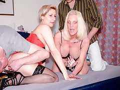 AmateurEuro - Foursome Fillet Carnal knowledge With Two Hot GILF Gentry