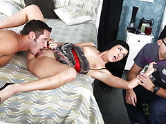 Cuckold Must Watch While Petite Girlfriend Fucks Exotic