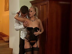 Young Carla Cox rides a difficulty Heavy Chubby Blarney gets all cum in Mouth
