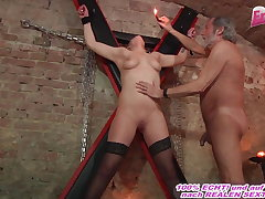 german submissive girl fucks in fetish locality with a user