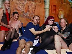 German swinger orgy in a sex club