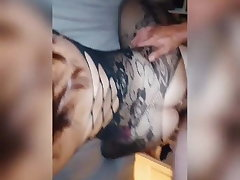 A married woman bangs her lover approach her cuckold