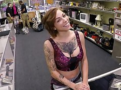 XXX PAWN - Tattooed Cosset Harlow Harrison Gives Pawnshop Employer A Hard Years