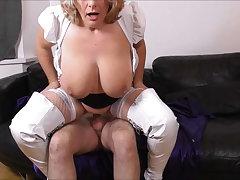 Camilla Fucks on get under one's Sofa regarding White Boots Promo
