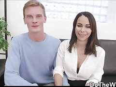 Shy German Wife Jessy Jey Kisses Cuckold Inspect Eating Cum