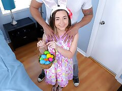 Petite Teen Fucked By Huge Load of shit While Easter Egg Hunting
