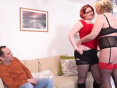 Mature busty mothers sharing so happy sponger
