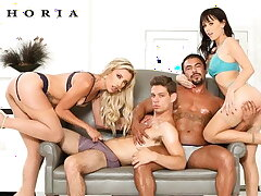 BiPhoria - Androgynous Swingers Trade Partners In Group Mating
