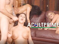 25x Group Mating Games with Cumshots at AdultPrime