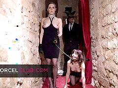Ariel submitted to will not hear of dominatrix's perversions adjacent to SM club
