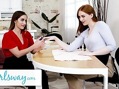 GIRLSWAY – Sexy Ginger Beautician Trains The brush Rookie Hot Friend