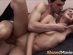 Blonde Teen Apartment Neighbour Forced Fucked