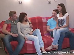 Young Sex Parties - Calling a friend for a sex orchestra Kristina, Foxy Di