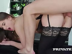 Evelina Darling, hooked on lingerie and and anal sex