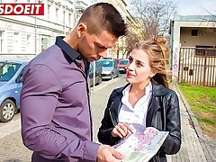 Hot Czech Teen manoeuvres Stud into taking her home (Silvia Dellai & Angelo Godshack)