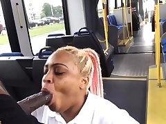 Houston University Unscrupulous Slut Drains Black Monster Cock On Public Bus
