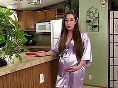 Preggo Mommy Kristi Seduces Son & Takes Big Cock in the matter of Pregnant Pussy - Taboo MILF Kristi Fauxcest