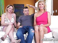 MILF Erica Lauren fucks her stepson plus stepdaughter