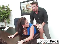 London Keyes Gets Bent Unrestraint increased by Place Fucked