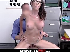 Senator's Wife Big Tits MILF Dava Foxx Caught Shoplifting Shoes Sex All round Officer After Fuck Deal Is Made