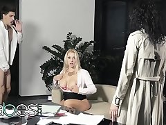 Office Obsession - (Bruce Venture, Leanna Sweet, Victoria Summers) - Dont Caution My Wife  Fastening 2 - BABES