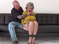 Beneath criticism english milf lady sonia reveals her large jugs
