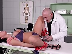 XXXtreme amulet scene with redhead submissive Isabel Dean's BDSM training