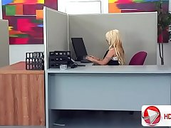 Holly Halston fucks better than she works HD Porn