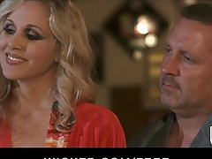 Curious couple invite Jessica Drake for their waggish threesome
