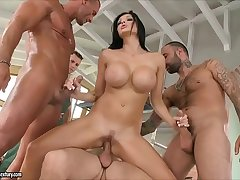 Aletta Ocean loves to obtain gangbanged